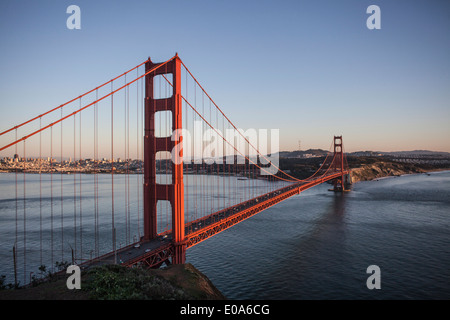 Elevated view of the golden gate bridge, San Francisco, USA - Stock Photo