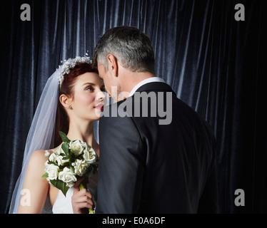 Portrait of bride and bridegroom - Stock Photo