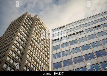 View of office block, Birmingham financial district, UK - Stock Photo