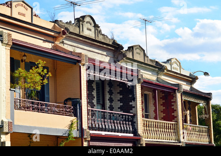 Double storey Victorian house in Melbourne Victoria Australia. - Stock Photo