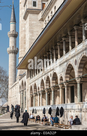People washing before praying. Outside the Suleymaniye Mosque in the center of Istanbul, Turkey. - Stock Photo