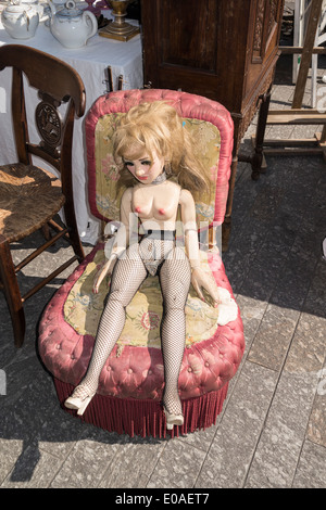 Flee Market , Place Garibaldi, Nice, Alpes Maritimes, Provence, French Riviera, Mediterranean, France, Europe, - Stock Photo