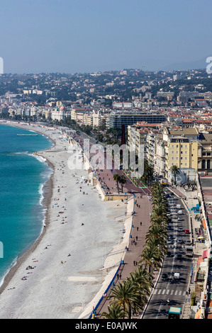 Nice, Promenade des Anglais, Alpes Maritimes, Provence, French Riviera, Mediterranean, France, Europe,  - Stock Photo