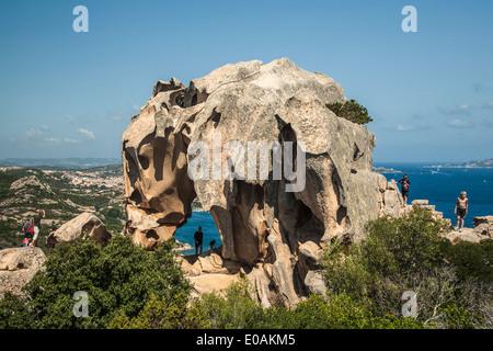 Boccia dell Elefante Elephant rock near Palau, Italy, Sardinia - Stock Photo