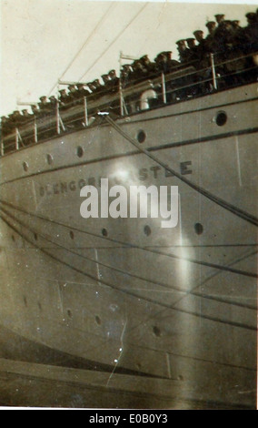 ''H.M.T. Glengorm Castle'': Casting off - Stock Photo