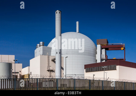 Germany, Schleswig-Holstein, Brokdorf, Nuclear power plant - Stock Photo