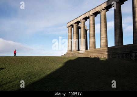 The Monument of Scotland in Edinburgh - Stock Photo