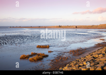 Germany, Lower Saxony, East Frisia, Norden, Norddeich, Lower Saxon Wadden Sea National Park, Beach - Stock Photo