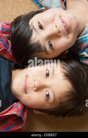 Portrait of happy brothers - Stock Photo