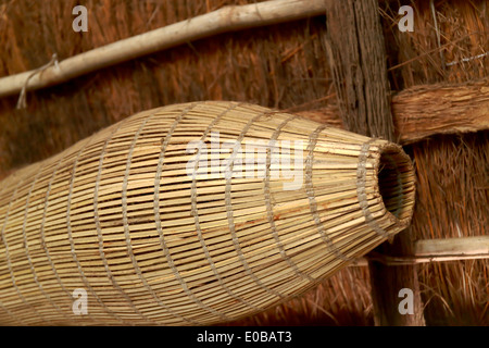 Traditional basket-Senegal - Stock Photo