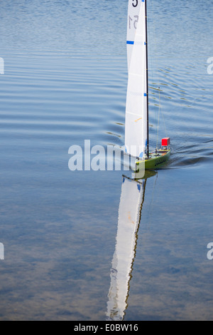Model Yacht Sailing On Rick Pond Home Park Kingston Surrey England