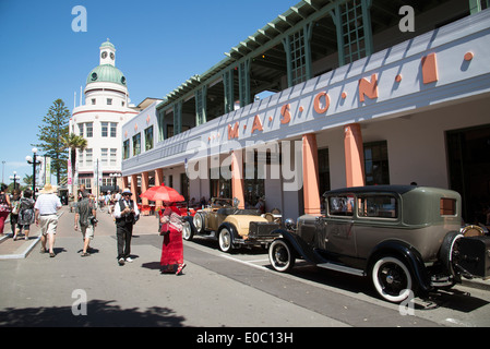 Art Deco Weekend With Classic Cars In Napier New Zealand The