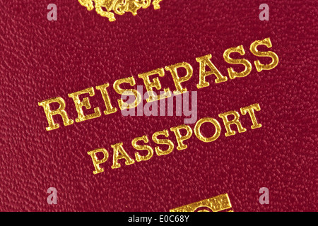 A red passport of the European Union - Stock Photo