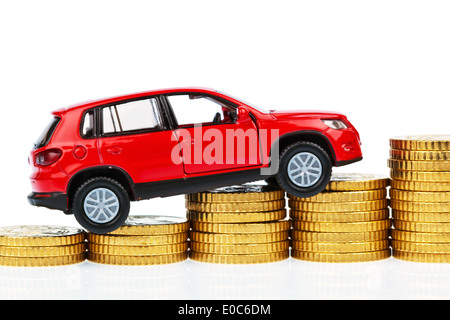 Autocosts vehicle costs passenger car costs car costs travel expenses mileage tax office professional outlays distance - Stock Photo