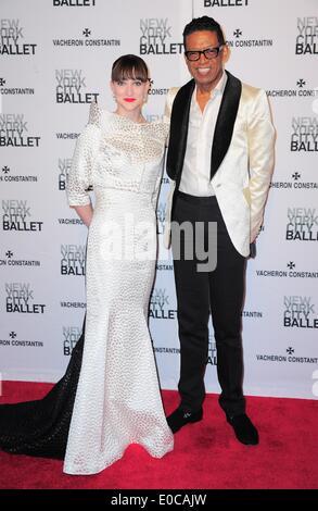 New York, NY, USA. 8th May, 2014. Ashley Bouder, B Michael at arrivals for New York City Ballet 2014 Spring Gala, - Stock Photo