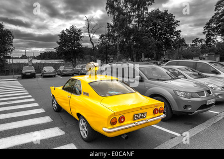 A little bit differently tuned Opel Manta, Helsinki, Finland, EU - Stock Photo