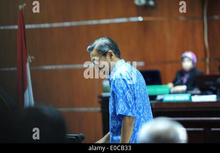 Jakarta, Indonesia. 9th May, 2014. Indonesian Vice President Boediono attends a testimony session of former deputy - Stock Photo
