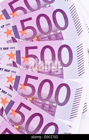 Close-up of a euro of bank note of the European Union, Nahaufnahme eines Euro Geldscheines der Europaeischen Union - Stock Photo