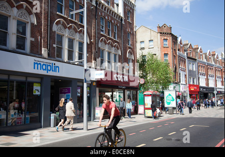 St Johns Rd in Clapham - Battersea SW11 - London UK - Stock Photo