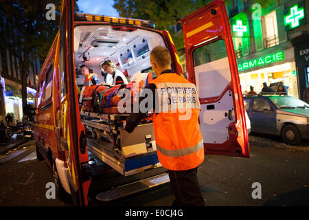 Paris fire brigade - Stock Photo