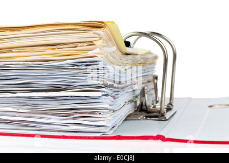 A file with letters and documents. Safekeeping of contracts - Stock Photo