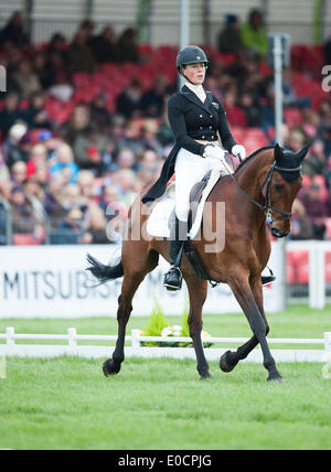 Badminton, UK. 09th May, 2014. Lucy Jackson [NZL] riding Willy Do during the dressage phase on day two of the 2014 - Stock Photo