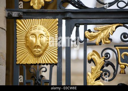 Gate decoration. Oxford, England - Stock Photo