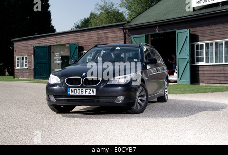 BMW 5 series Touring estate car, E61 face lift 2008 model pictured at Brooklands - Stock Photo
