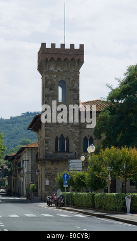 impression of Greve in Chianti, a rown in the Tuscany region of Italy - Stock Photo