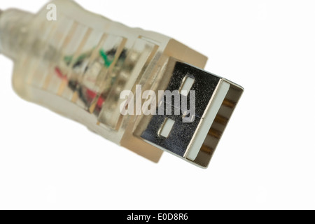 USB cable, symbolic photo for interlinking, data transfer and Internet, USB-Kabel, Symbolfoto fuer Vernetzung, Datentransfer - Stock Photo