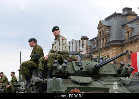 Soldiers who served in the Canadian Forces in Afghanistan were honored on Parliament Hill during national Day of - Stock Photo