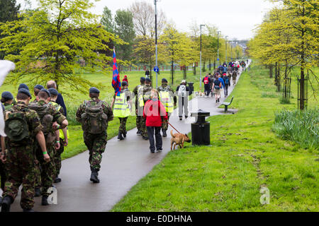 The Castle, Wellingborough, Northants, UK. 10th May, 2014. 35th International Waendel Walk starting at The Castle, - Stock Photo
