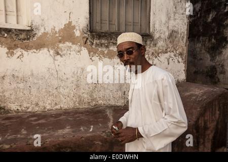 Swahili man in Zanzibar, Tanzania, East Africa. - Stock Photo