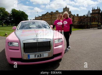 Blenheim Palace, Oxfordshire, UK. 10th May, 2014. Helen Fospero, Linda Barker took part in the  Pink Ribbon walk - Stock Photo