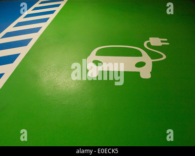 Electric car charging space - Stock Photo