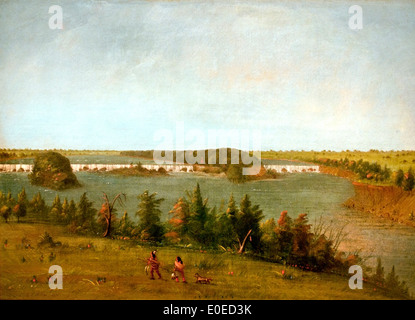The Falls of Saint Anthony 1871 George Catlin 1796-1872 American United States of America USA - Stock Photo