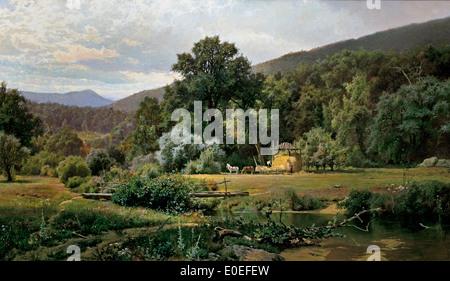 Summer in the Blue Ridge 1874 Hugh Bolton Jones 1848-1927 American - Stock Photo
