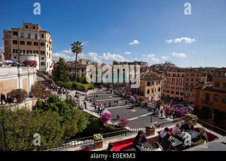 Spanische Treppe, Rom, Italien - Spanish Steps, Rome, Italy - Stock Photo