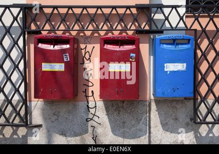 Postkästen, Rom, Italien - Mailboxes, Rome, Italy - Stock Photo
