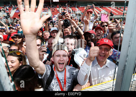 Circuit de Barcelona-Catalunya, Barcelona, Spain. 11th May, 2014. Grand Prix of Spain, fans Credit:  dpa picture - Stock Photo