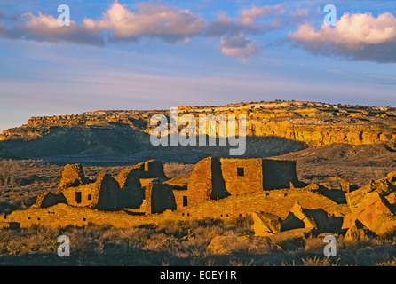 Pueblo Bonito and Chaco Canyon, Chaco Culture National Historic Park, New Mexico USA - Stock Photo
