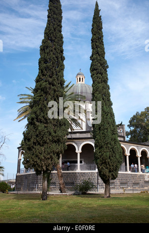 Church of the Beatitudes, near Taghba and Capernaum, Israel - Stock Photo