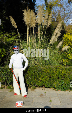 Pantomime in National Garden, Athens, Greece - Stock Photo