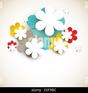 Background with abstract flowers - Stock Photo