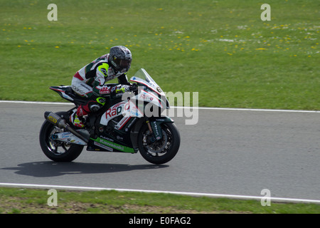 British superbikes test day at Snetterton in Norfolk, - Stock Photo