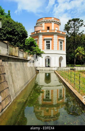 garden of the royal residence of Caserta, Italy - Stock Photo