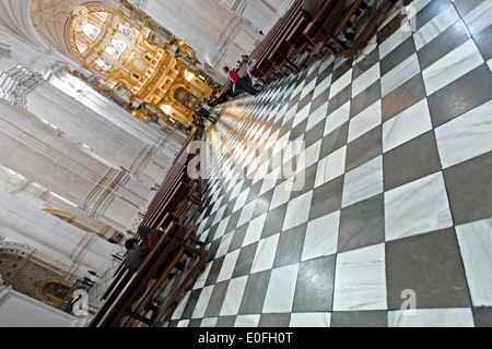 Interior of Granada Cathedral (Cathedral of the Incarnation), Granada, Spain - Stock Photo
