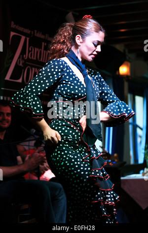 Flamenco dancer, Granada, Spain - Stock Photo