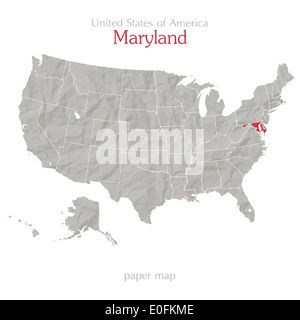 Maryland State Political Map Stock Photo Royalty Free Image - Us map maryland state