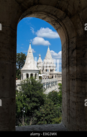 Eurtopa, Hungary, Budapest, fisherman bastion. One of the landmarks of the town., Ungarn, Fischer Bastei. Eines - Stock Photo